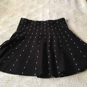Black and white knit skirt.